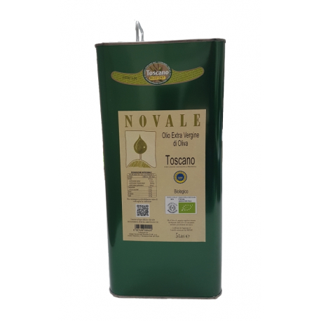 "Can 5 L ""NOVALE"" Organic Tuscan IGP Oil"
