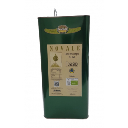 "Can 5 L ""NOVALE"" Organic Tuscan IGP Oil (Pack. 2 Pz.)"