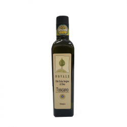 "Bottle 0,500 L ""NOVALE"" Organic Tuscan IGP Oil"