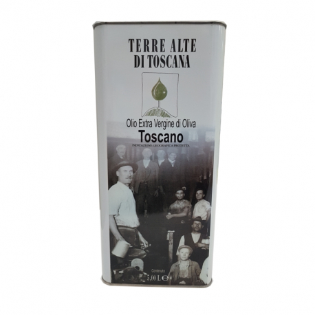 "Can 5 L ""Terre Alte di Toscana"" Tuscan Extra Virgin Olive Oil IGP (Pack. 2 pz)"